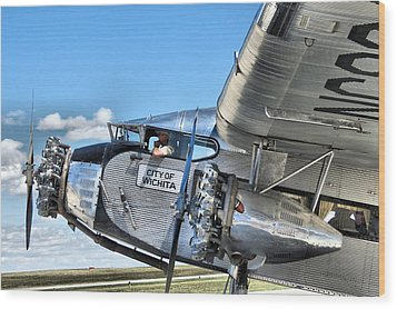 Ford Trimotor Wood Print by Michael Daniels