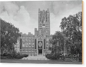 Fordham University Keating Hall Wood Print by University Icons