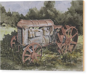Fordson Model F Wood Print by Sam Sidders
