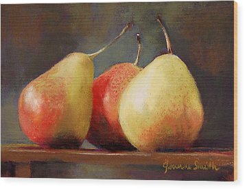 Forelle Trio Wood Print by Jeanne Rosier Smith