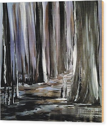 Forest 1 Wood Print