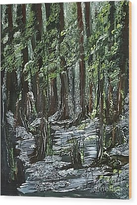 Forest 2 Wood Print