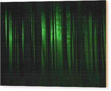 Forest Abstract03 Wood Print by Svetlana Sewell