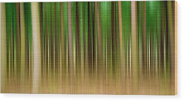 Forest Abstract04 Wood Print by Svetlana Sewell