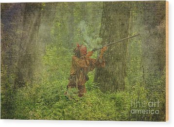 Wood Print featuring the digital art Forest Clash by Randy Steele