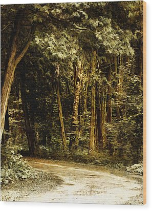 Forest Curve Wood Print