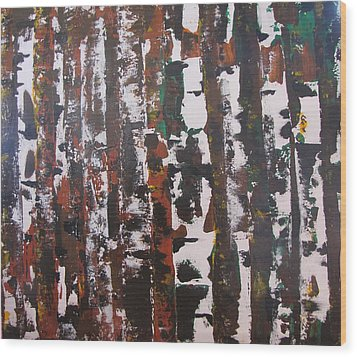 Wood Print featuring the painting Forest For The Trees by Gary Smith