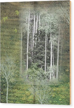 Forest For The Trees Wood Print by Nadine Berg