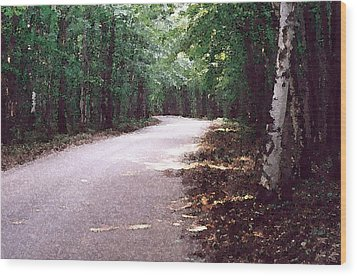Wood Print featuring the photograph Forest In The Road Wc 2 by Lyle Crump