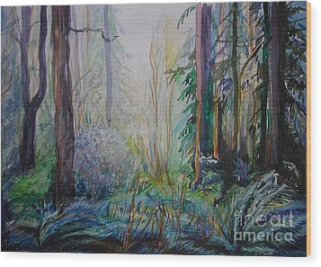 Forest In The Spring Wood Print by Anna  Duyunova