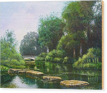 Forest Park Stepping Stones Wood Print