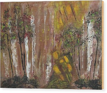Forest Primeval Wood Print by Sharyn Winters