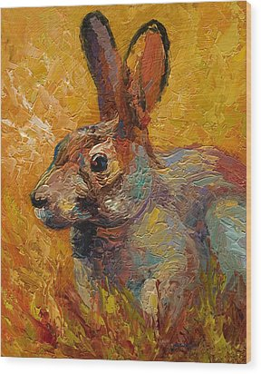 Forest Rabbit IIi Wood Print by Marion Rose