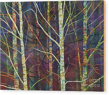 Wood Print featuring the painting Forest Rhythm by Hailey E Herrera