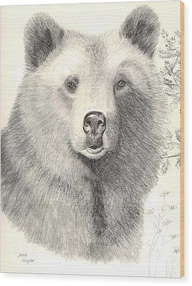 Forest Sentry Wood Print