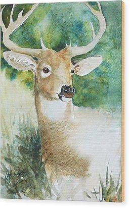 Forest Spirit Wood Print by Christie Michelsen