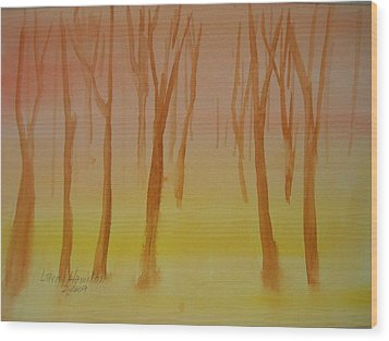 Forest Study Wood Print by Larry Hamilton