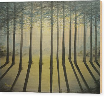 Forest Thru The Trees II Wood Print by Chris Fraser
