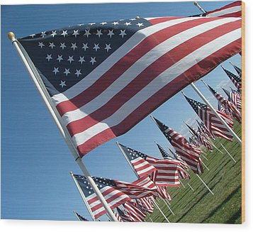 Forever Flags Wood Print