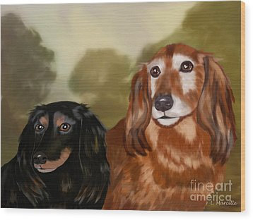 Forever Friends Wood Print by Linda Marcille
