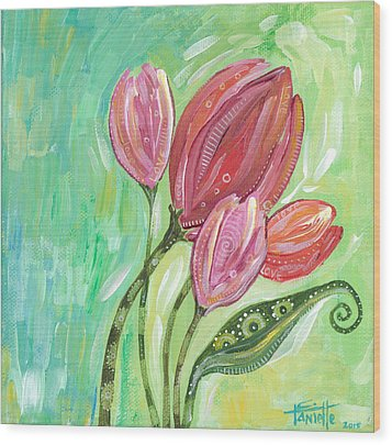 Forever In Bloom Wood Print by Tanielle Childers