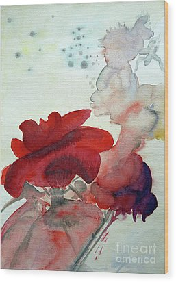 Wood Print featuring the painting Forever by Jasna Dragun
