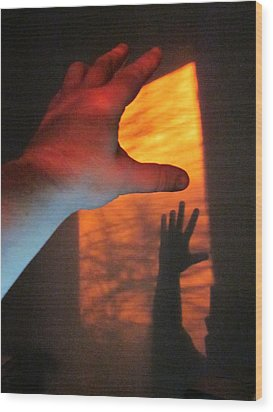 Forever Living Hands Wood Print by Guy Ricketts