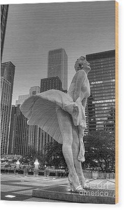 Forever Marilyn - 7 Wood Print by David Bearden