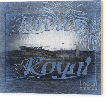 Wood Print featuring the photograph Forever Royal by Andee Design