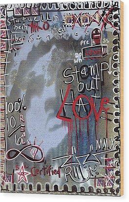 Forever Stamp Wood Print by Robert Wolverton Jr