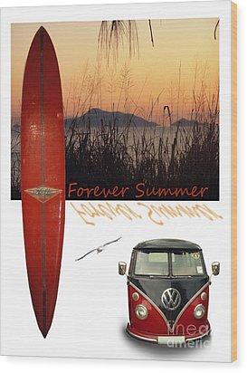 Forever Summer 1 Wood Print