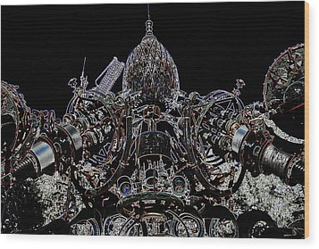 Forevertron Wood Print by Tya Kottler