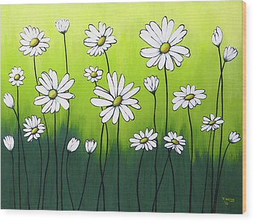 Daisy Crazy Wood Print