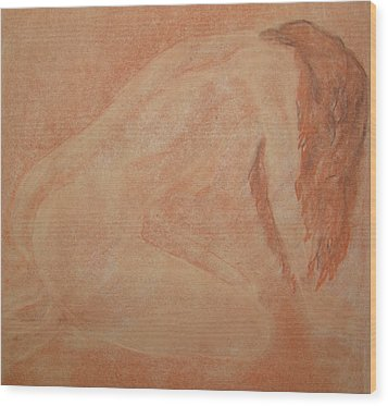 Forgive Me Wood Print by Lj Lambert