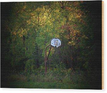 Forgotten Hoop Wood Print