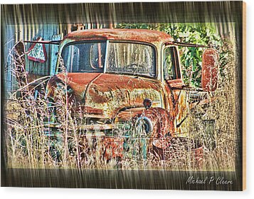 Forgotten Machine Wood Print by Michael Cleere