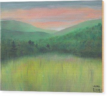 Forgotten Meadow Wood Print by Laurel Ellis