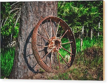 Forgotten Wheel Wood Print