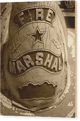 Former Fire Marshal Hat Wood Print