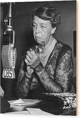 Former First Lady Eleanor Roosevelt Wood Print by Everett