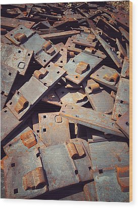 Wood Print featuring the photograph Former Joints by Olivier Calas