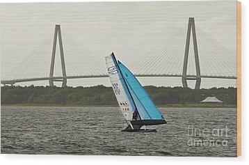 Formula 18 Sailing Cat Big Booty Charleston Sc Wood Print by Dustin K Ryan