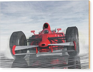 Formula One Racer Wood Print by Carol and Mike Werner