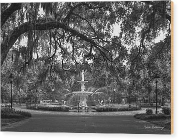 Forsyth Park Fountain 2 Savannah Georgia Art Wood Print by Reid Callaway