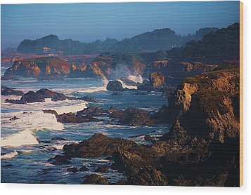Fort Bragg Coastline Wood Print