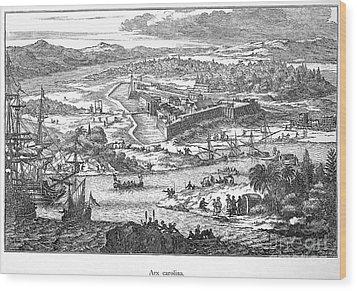 Fort Caroline, 1673 Wood Print by Granger