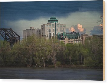 Fort Garry Hotel/fort Garry Place Wood Print by Bryan Scott