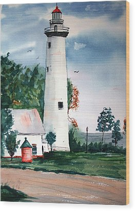 Fort Gratiot Lighthouse Michigan Wood Print