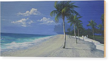 Fort Lauderdale Beach Wood Print by Anne Marie Brown