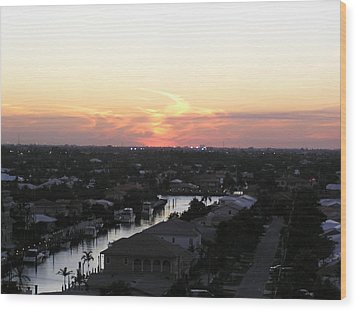 Fort Lauderdale Sunset Wood Print by Patricia Piffath